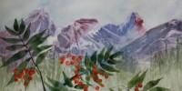 Fernie B. C. Three Sisters with Berries